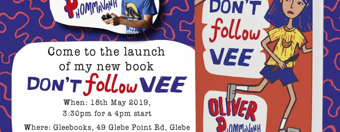 Don't Follow Vee Book launch at Gleebooks, 18th May 2019